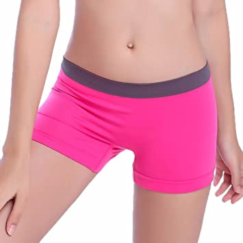 759c6d13f7ead7 Damen Mini Shorts Elasthan Kurz Leggings Hotpants Yoga Running ...