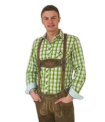 Hombre Traje Camisa Cuadros en verde Spieth & wensky Verde ...