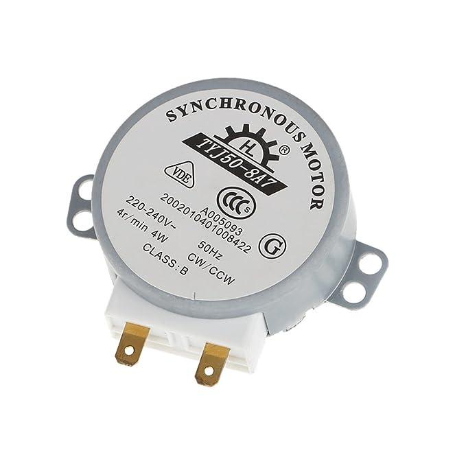 KKmoon Placa giratoria giro mesa Motor síncrono para microondas AC 220-240V 4W