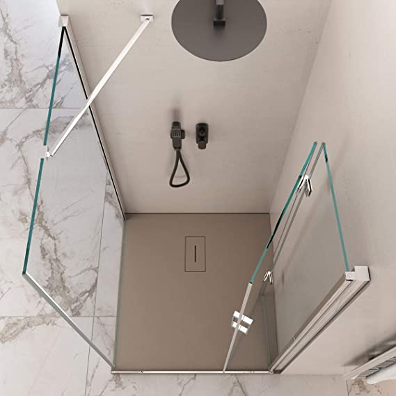 Olimpo - Mampara de Ducha Angular de 190 cm de Altura con una ...