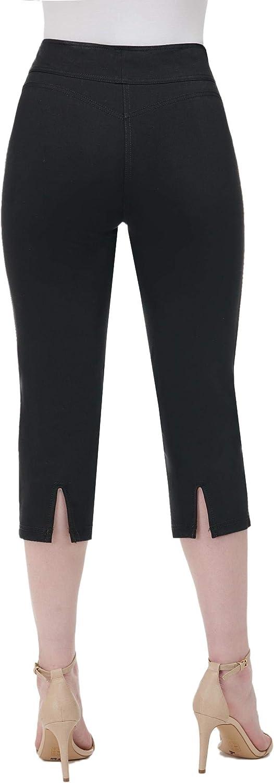 Nygard Womens Petite Slims 2.5 Capri with Back Slit