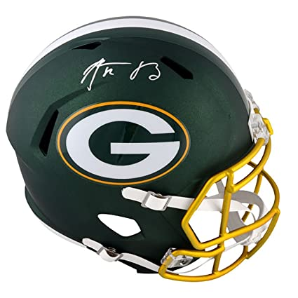 7541bd0880e Image Unavailable. Image not available for. Color  Steiner Sports NFL Green  Bay Packers Aaron Rodgers ...