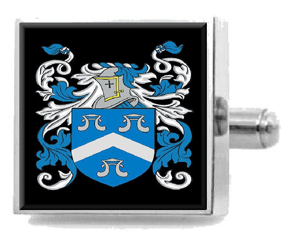 Select Gifts Macnair Scotland Heraldry Crest Sterling Silver Cufflinks Engraved Message Box