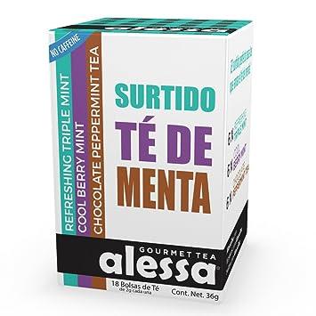 Amazon.com : Alessa - Assorted Mint Gourmet Tea - 40 Bags ...