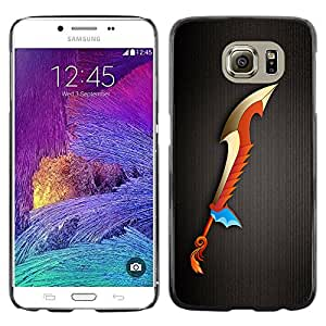 Shell-Star Arte & diseño plástico duro Fundas Cover Cubre Hard Case Cover para Samsung Galaxy S6 / SM-G920 / SM-G920A / SM-G920T / SM-G920F / SM-G920I ( Magic Sword )