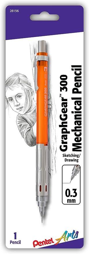 1 Pack Pentel Stein Mechanical Pencil 0.5mm Point Size White Barrel