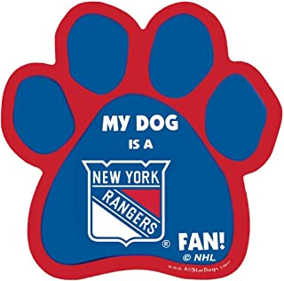 product image for NHL New York Rangers Paw-Shaped Magnet, One Size, Royal