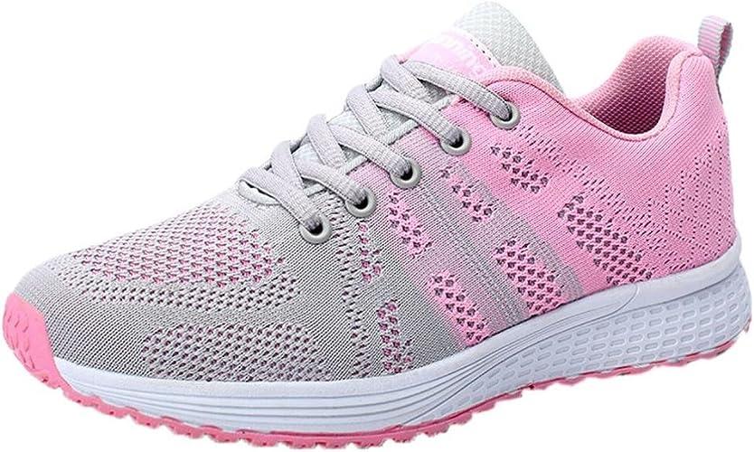 Zapatillas de Deporte para Mujer Otoño 2018 PAOLIAN Zapatos de Cordones Plano Dama Casual Deportivo Cómodo Moda Señora Senderismo Aire Libre y Deporte Calzado de Trabajo: Amazon.es: Zapatos y complementos