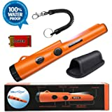Fully Waterproof Pinpoint Metal Detector Pinpointer - Include a 9V Battery, 360°Search Treasure Pinpointing Finder Probe…
