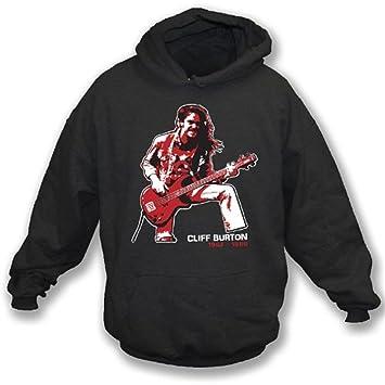 TshirtGrill La sudadera con capucha del tributo de Cliff Burton (Metallica), colorea negro: Amazon.es: Deportes y aire libre