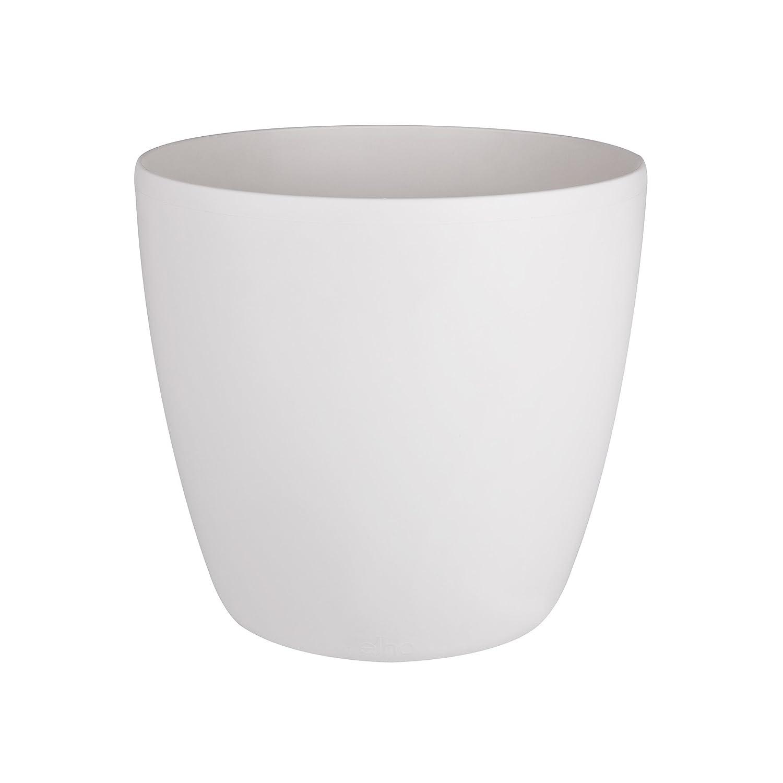 Elho brussels round wheels 35cm flowerpot - white 5643123515000