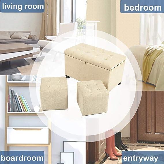 Amazon.com: Banco otomano de almacenamiento para dormitorio ...
