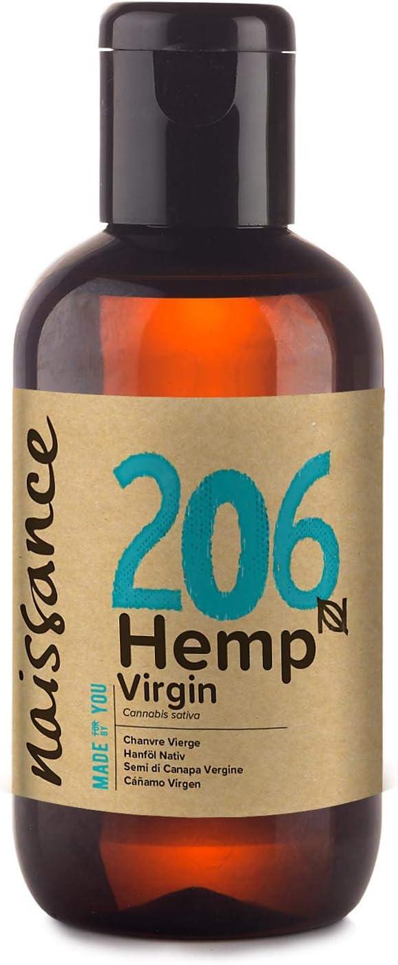 Naissance Aceite Vegetal de Semillas de Cáñamo n. º 206-100ml - 100% puro, prensado en frío, virgen, vegano y no OGM