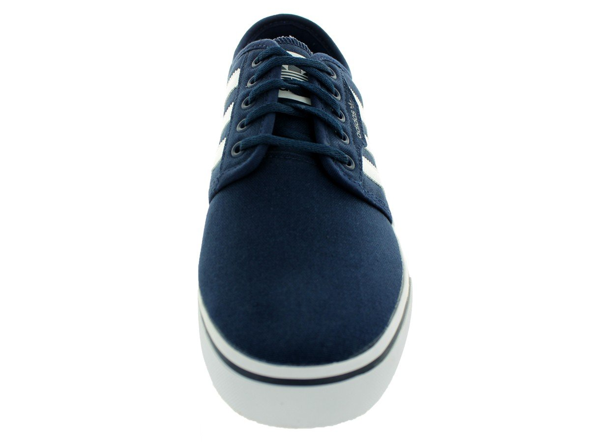 50% off new appearance to buy Adidas Men's Seeley Skateboard Shoes Sneakers D68870 (7.5 D(M) US,  Collegiate Navy/White/Collegiate Navy)