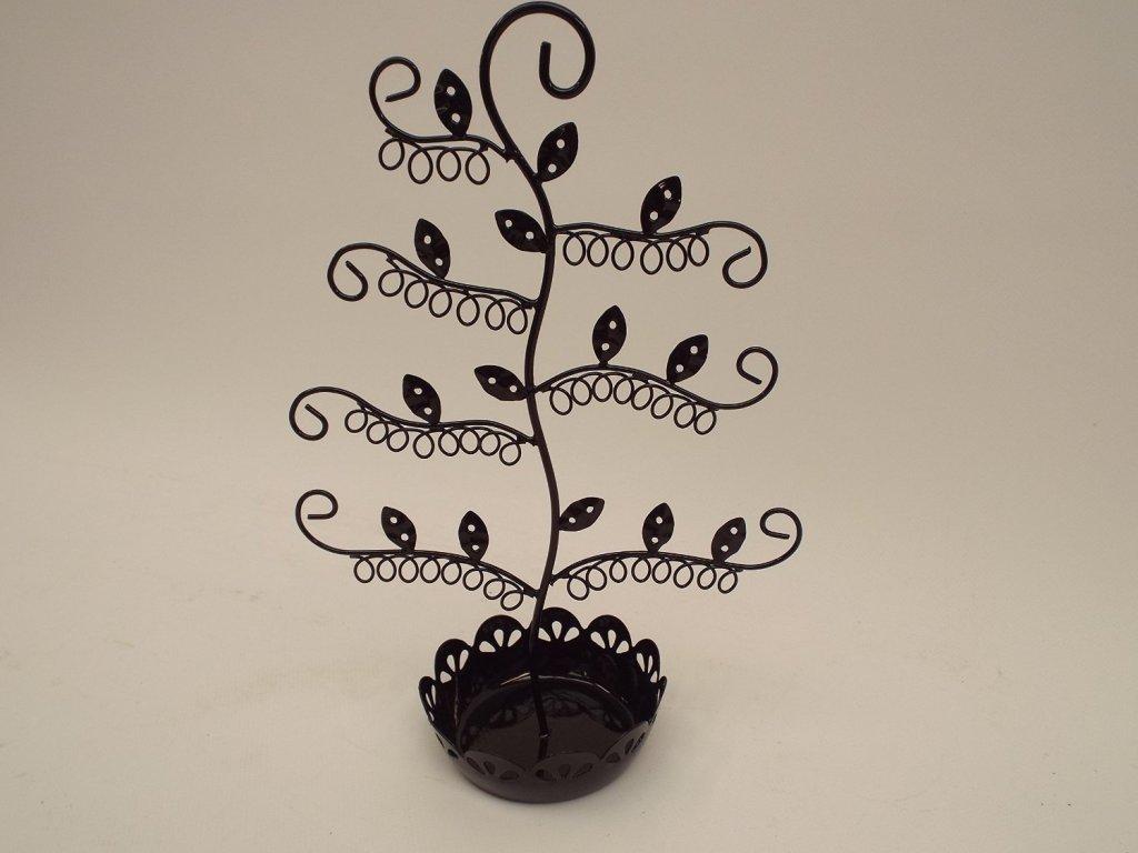 Sass & Belle Smalto nero gioielli albero con Trinket Dish RJB Stone