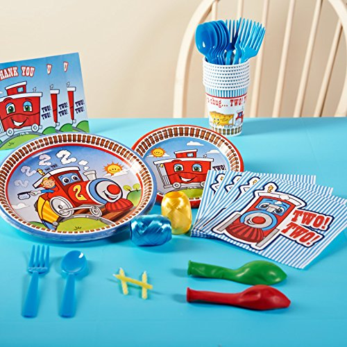 [2nd Birthday Train Party Supplies - Basic Party Pack for 16] (Chuggington Party Supplies)