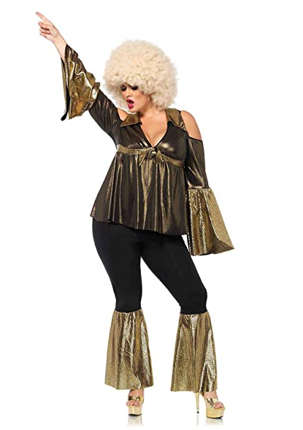 Leg Avenue Women\'s Plus Size Disco Doll 70s Costume