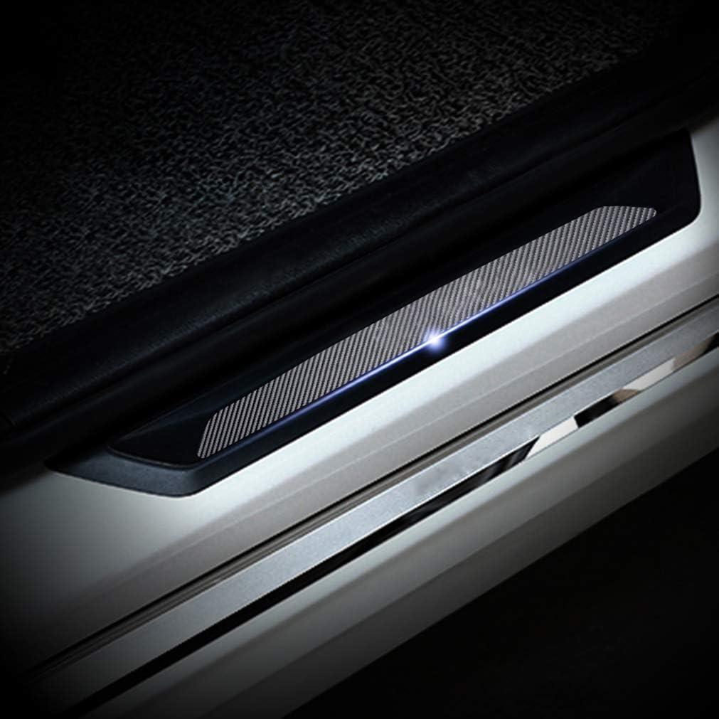 Cobear 4D Kohlefaser Einstiegsleiste Schutz Aufkleber Reflektierende Lackschutzfolie f/ür 630i 645ci/650i/M6 E63 E64 Einstiegsleisten 4 St/ück
