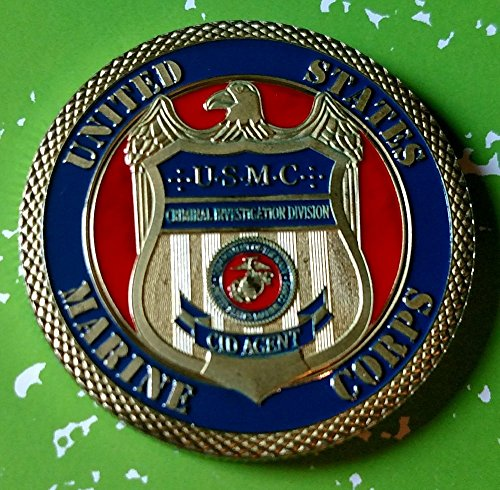 USMC Marine Corps CID Criminal Investigation Division Agent Military Colorized Challenge Art Coin