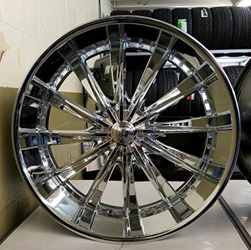 6 Chrome Wheels Rims Tires - 2