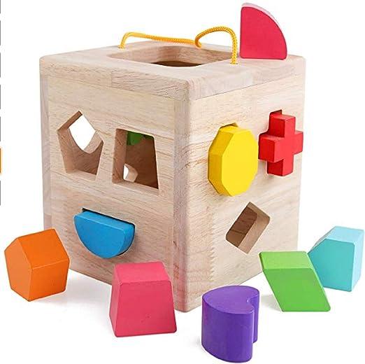Pair Decorative Wooden Blocks Wood Cubes Kids Pets Child Play Toy Desk Decor