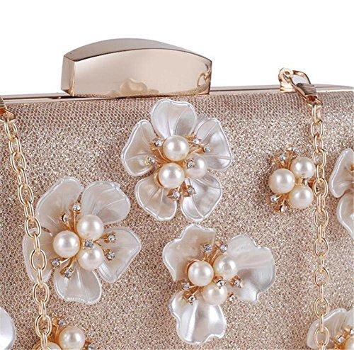 Paquet main Fleur Robe Sac Perle à Pochette Femme Mariage Sacs Soirée Rwvw0