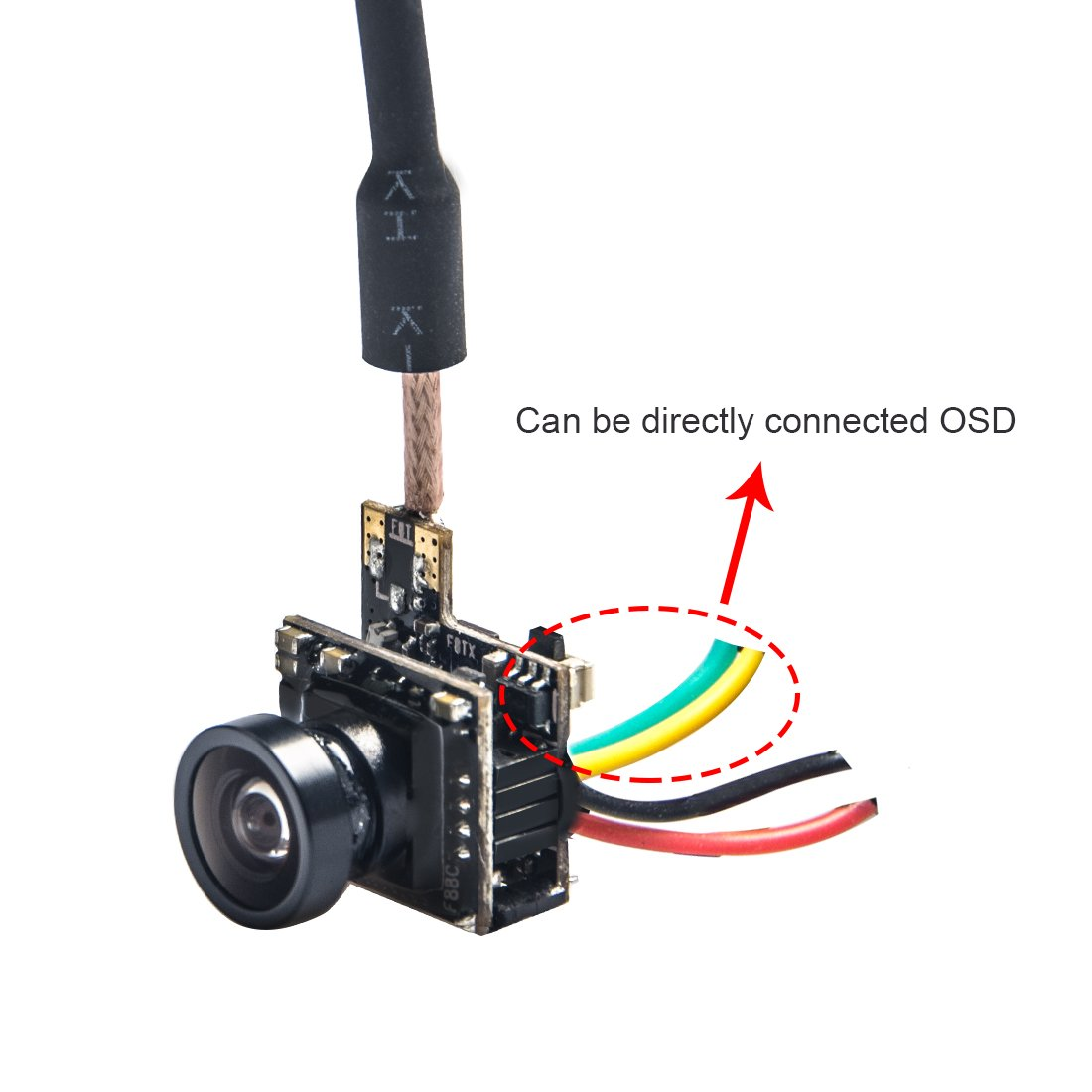 Wolfwhoop WT07 Micro 5.8GHz 48CH 25mW FPV Transmitter and 600TVL Camera with OSD Interface for FPV Quadcopter Drone