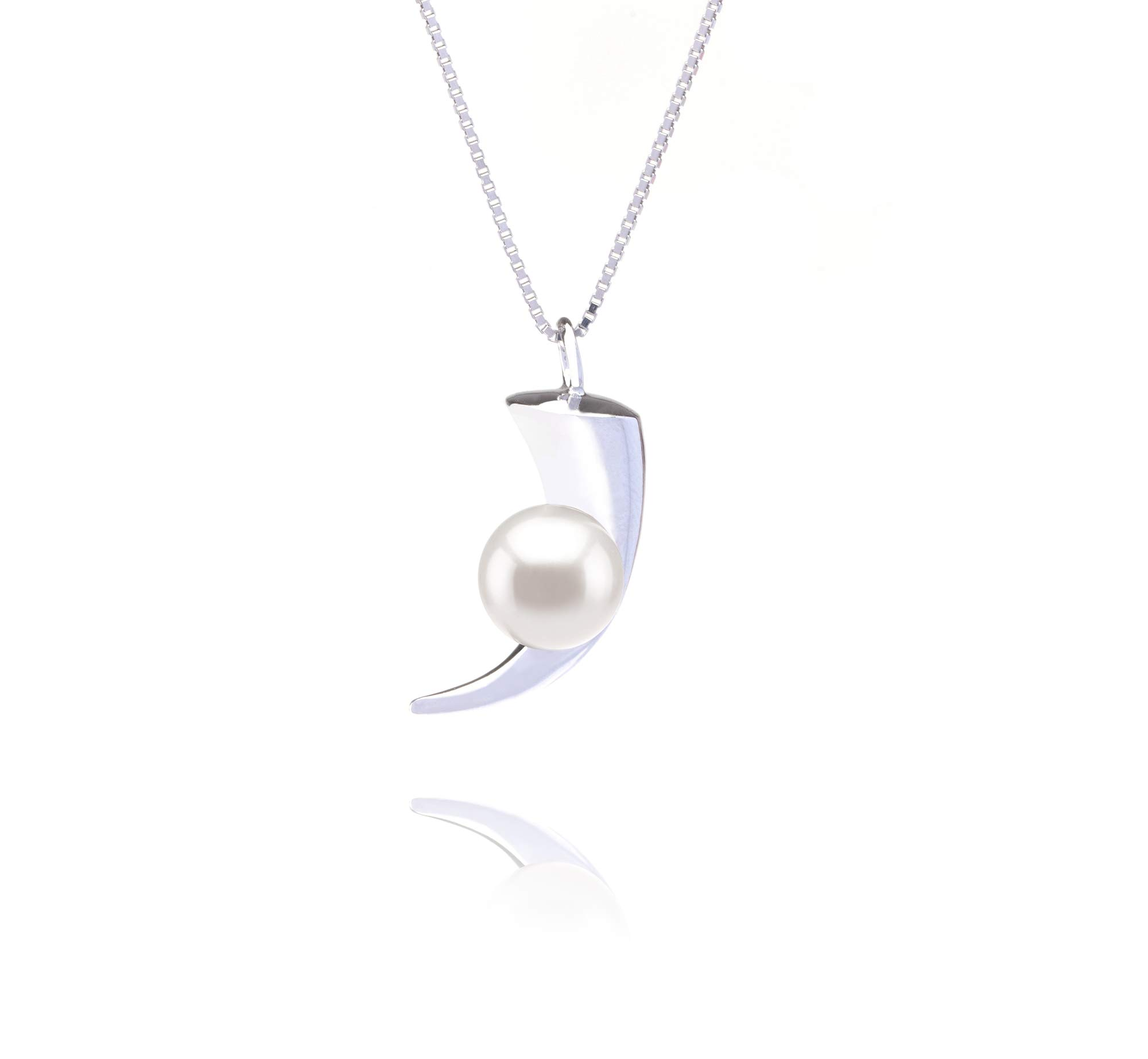 Larina White 8-9mm AAAA Quality Freshwater 925 Sterling Silver Cultured Pearl Pendant For Women by PearlsOnly
