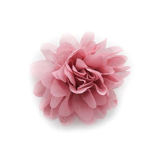 Amazon dusty rose pink chrysanthemum chiffon hair flower clip dusty rose pink chrysanthemum chiffon hair flower clip mightylinksfo