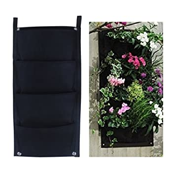 Meiwo 4 Pocket Hangende Vertikal Garten Wand Pflanzer Fur Yard