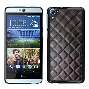 For HTC Desire D826 - Black Stitched Leather Imitation /Modelo de la piel protectora de la cubierta del caso/ - Super Marley Shop -