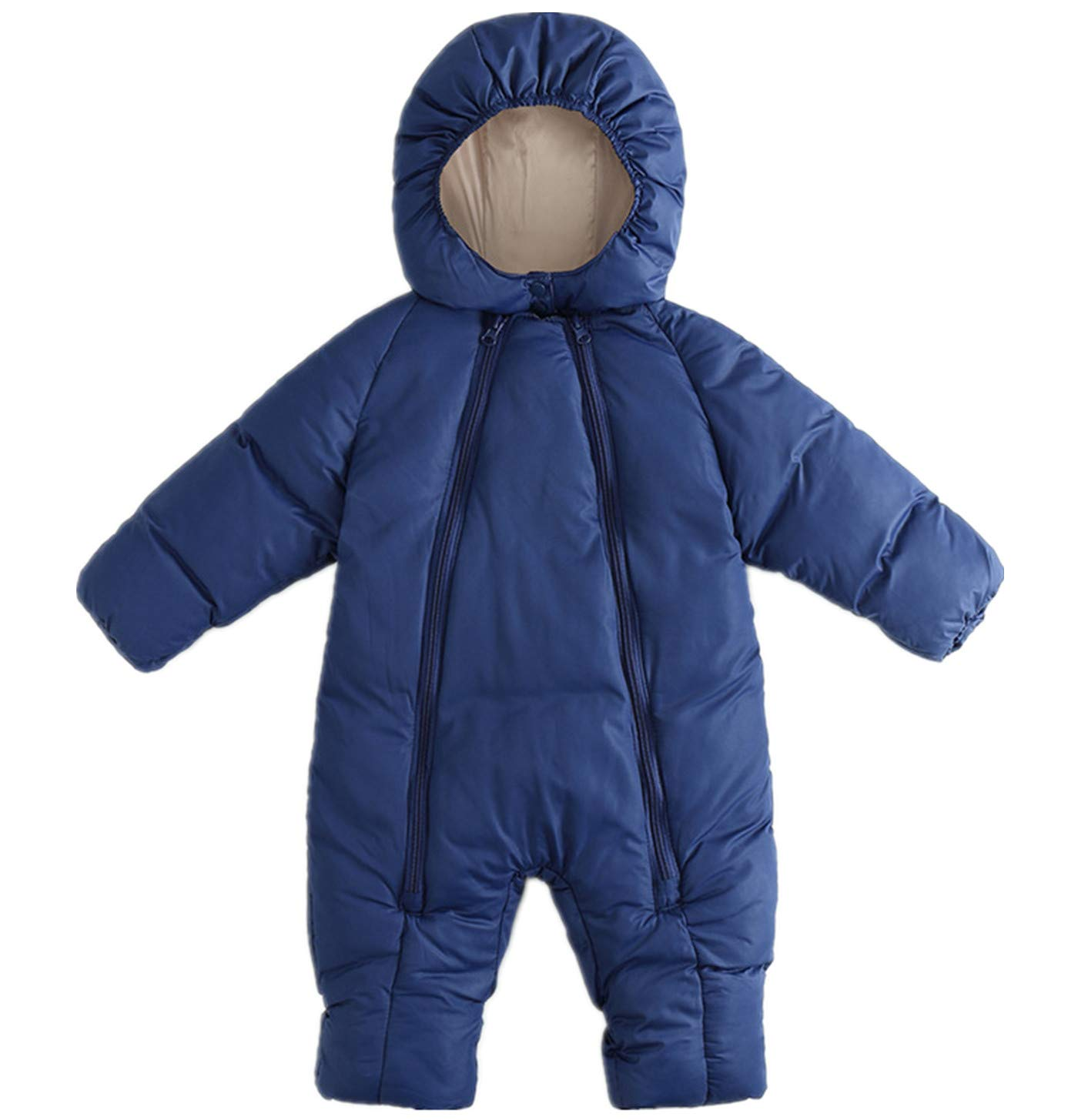 Ohrwurm Baby Winter Puffer One Piece Snowsuit with Hood Zipped Toddler Padded Sleepsuit (0-6 Months, Navy) by Ohrwurm