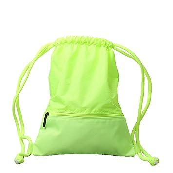ZOUQILAI Mochila de viaje al aire libre con cordón resistente al agua Plegable de peso ligero Bolsa de ejercicio físico Selección multicolor (Color ...