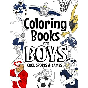 Coloring Books For Boys: Cool Coloring Book For Boys Aged 6-12: The ...