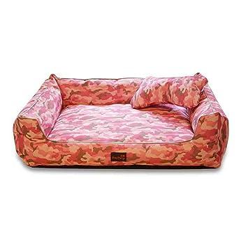 XSQRGG Camas para Perros Pequeño Medio Grande Mascotas Sofá Impermeable Lavable Y Extraíble,Pink,