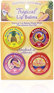 product image for Island Soap & Candle Works, Lip Balm Tin, Convenient 4-pack