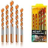 5Pcs Ultimate Triangle Drill Bits Set, Multifunctional Twist Drill Bit Tungsten Carbide Drill Bit Tip Punching Hole…