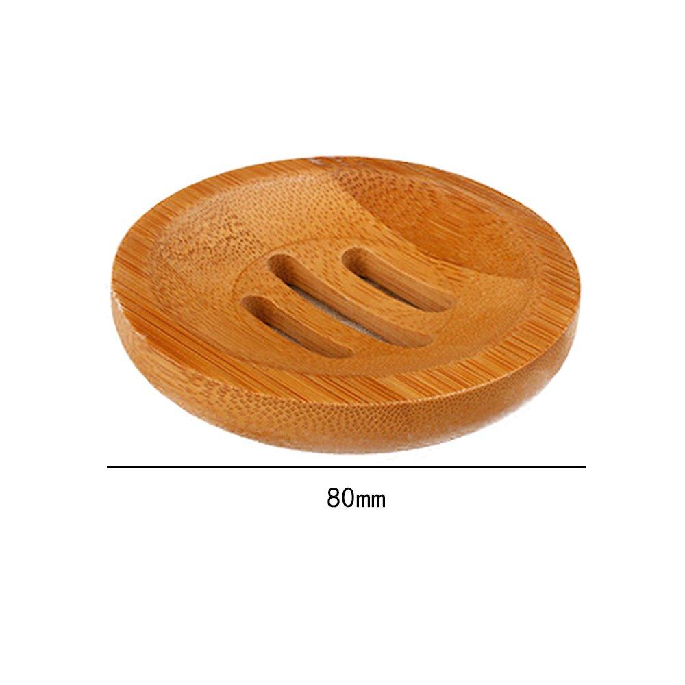 Set di 2 pezzi portasapone in legno di bamb/ù naturale per doccia