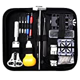 112 PCS Watch Repair Kit, Eventronic Professional Spring Bar Tool Set, Watch Band Link Pin Tool Set with Carrying Case