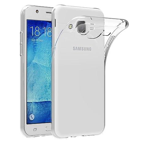 l'ultimo 5664b 6e898 AICEK Compatible for Samsung Galaxy J5 2015 J500F Custodia Silicone Caso  Molle di TPU Cristallo Trasparente Sottile Case Posteriore della Copertura  ...