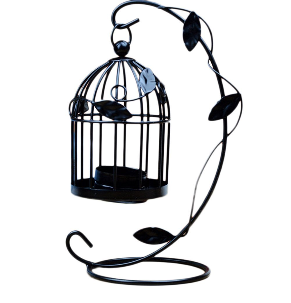 LAAT Candle Holder Birdcage-shape Metal Tealight Lanterns LED Wedding ChristmasTable Home Decoration by LAAT (Image #1)