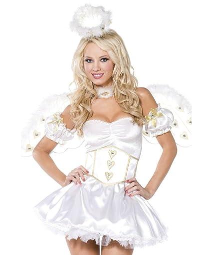 Smiffys - Disfraz de ángel de Navidad sexy para mujer ...