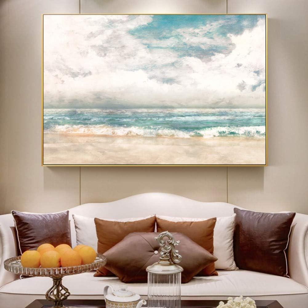 SWFDV Pintura al óleo Arte de la Pared Pintura de la Lona Paisaje Marino Abstracto Carteles Impresiones del Arte Cuadros de la Pared para la Sala de Estar