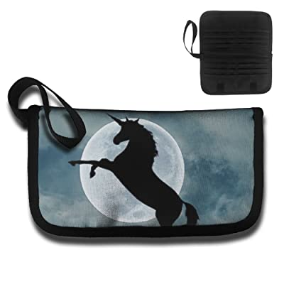 Gili The Moonlight And The Leaping Unicorn Travel Passport & Document Organizer Zipper Case