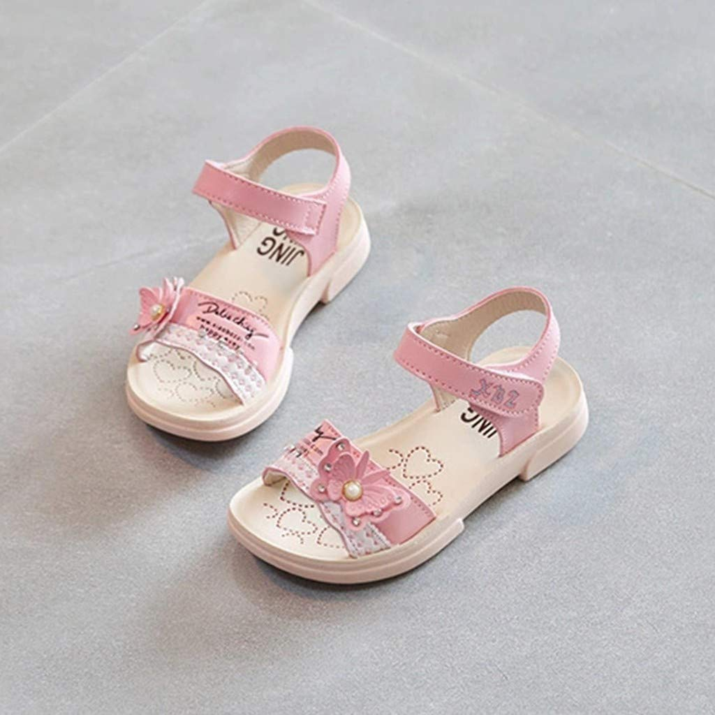 Sumen Summer Infant Girls Sandals Butterfly Crystal Pearl Princess Open Toe Baby Shoes