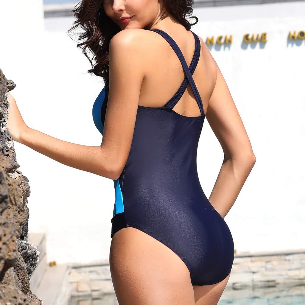 Corriee Womens One Piece Swimsuits Plus Size Tummy Control Beach Swimwear Ladies Sporty Bathing Suits