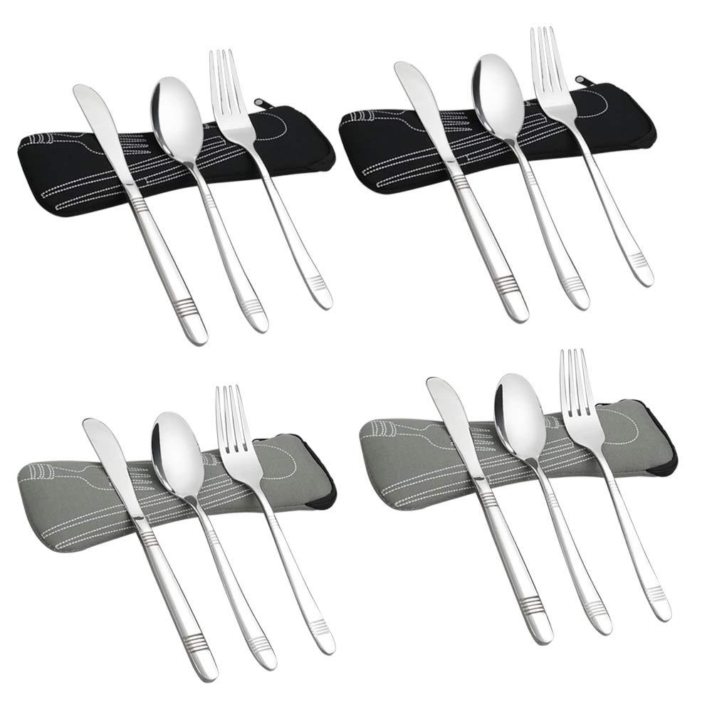Amazon.com: Begale - Juego de 4 cucharas planas de acero ...