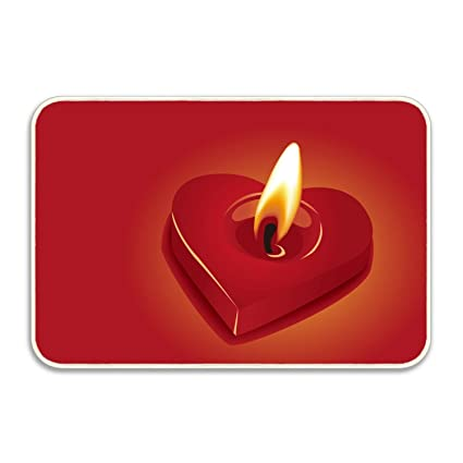 892efe840 Amazon.com : Penny McCarthy Candle Heart Fire Door Mats Rubber Shoes ...