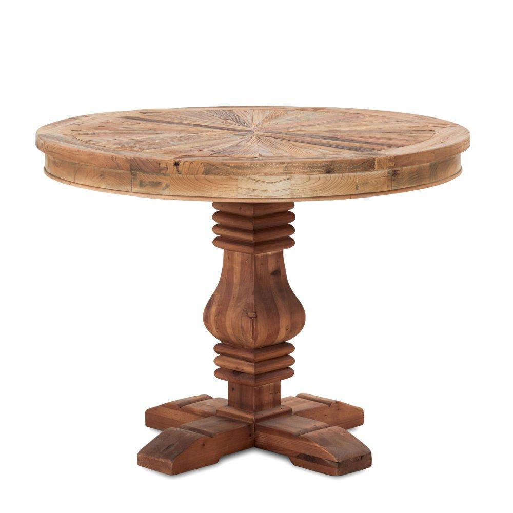 Esstisch Holz rund | Holztisch braun recyceltes Ulmenholz ...