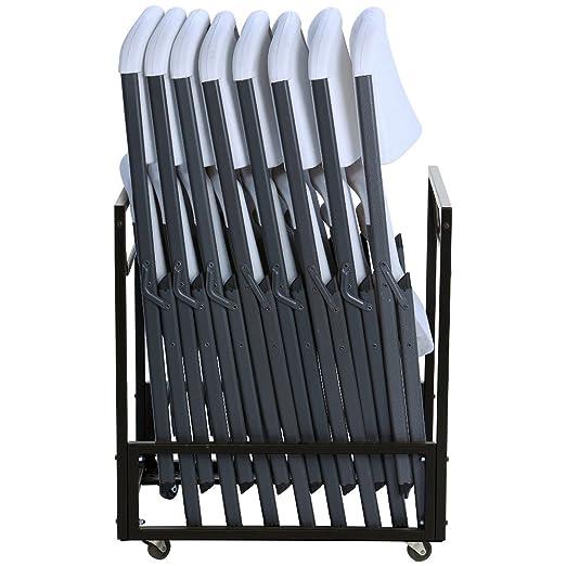 Amazon.com: Lifetime 8 sillas plegables con 1 silla de ...